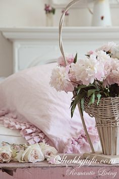 Shabby pink peonies