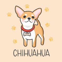 Cartoon Cartoon, Cute Cartoon Drawings, Cute Cartoon Animals, Cute Animal Drawings, Kawaii Drawings, Cute Animals, Coffee Cartoon, Chihuahua Drawing, Chihuahua Art