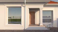 Proiect casa rezidentiala Corbeanca 3 – Profile Decorative Village House Design, Village Houses, Design Case, House Plans, Exterior, Windows, Home Decor, South Africa, Homes