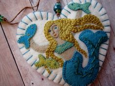 Made to Order Ornaments Choose Embroidered Mermaid by SandhraLee