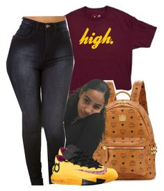 """high."" by heavensincere ❤ liked on Polyvore featuring MCM and NIKE"