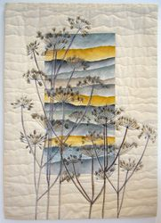 New Patchwork Quilting Designs Embroidery Ideas Patchwork Quilting, Art Quilting, Quilt Art, Quilting Ideas, Fiber Art Quilts, Quilting Projects, Art Projects, Landscape Art Quilts, Abstract Landscape
