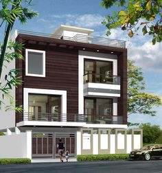 107 Best Front Elevation Images In 2019 Modern Houses House