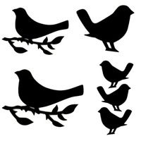 "Art Stencil Template Bird on a Branch - 6"" x 6"" Stencil"