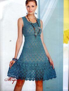 Edivana Croche: Vestido Verão e Bolsa, Sommerkleid