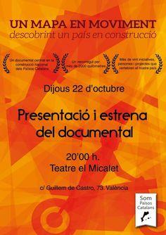 """Un Mapa en Moviment descobrint un País en Construcció"" #SomPaïsosCatalans Movie Posters, Movies, Blog, Documentaries, Films, Film Poster, Popcorn Posters, Cinema, Film"