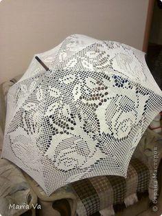 Поделка изделие Вязание крючком Зонтики Нитки фото 4