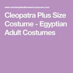Cleopatra Plus Size Costume - Egyptian Adult Costumes