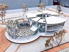 No photo description available. Maquette Architecture, Concept Models Architecture, Architecture Model Making, Architecture Concept Drawings, Architecture Magazines, Futuristic Architecture, Architecture Plan, Landscape Architecture, Cultural Architecture