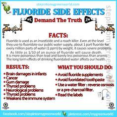 Fluoride side effects