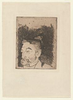 Paul Gauguin.  Portrait of Stéphane Mallarmé. 1891