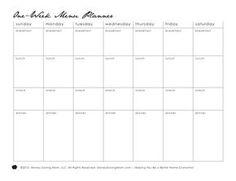 Weekly Menu Plan  Free Printable Recipes For Each Meal