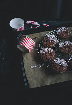 Candy cane chocolate cookies by Call me cupcake, via Flickr