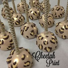 Cheetah print cake pop