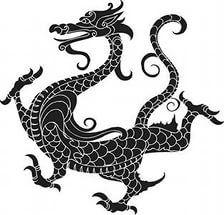 Вектор китайского дракона шаблону.