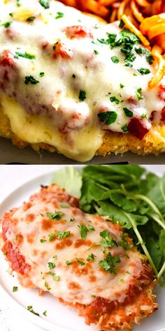 This delicious Oven Baked Chicken Parmesan recipe is easy and doesn't require any frying. Because this chicken Parmesan is baked, it is healthy, quick and easy! Make this crispy baked Parmesan crusted chicken for dinner tonight in about thirty minutes! Chicken Recipes Video, Healthy Chicken Recipes, Vegetarian Recipes, Cooking Recipes, Healthy Quick Recipes, Italian Food Recipes, Pizza Recipes, Drink Recipes, Seafood Recipes