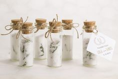 DIY Rustic Wedding Favor Rosemary Salt with favor tag 2 from Wine Country Occasions www.winecountryoccasions.com