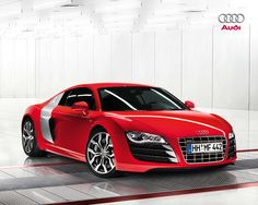 Motorsport of Audi R8 Great Car Concept » Audi R8 Red Car Picture
