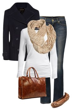 """""""Cold no snow"""" by jjill ❤ liked on Polyvore featuring 7 For All Mankind, Jaeger, Isabella Oliver, A