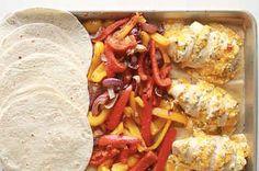 These Sheet Pan Chicken Fajitas Are Game-Changing Recipe Creator, Chicken Fajitas, Just Cooking, Casserole Recipes, Sheet Pan, Chicken Recipes, Cooking Recipes, Tasty, Favorite Recipes