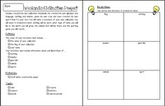Weslandia- Creating your own civilization brochure project.