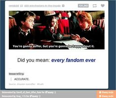 I wonder which show Ron became a fanboy of...