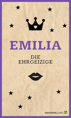 Dir gefällt der Vorname Emilia? Finde heraus, wo der süße Mädchenname herkommt, was er bedeutet, wann sein Namenstag ist und vieles mehr. Alle Infos zum Namen Emilia auf Vorname.com entdecken!