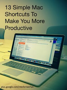 13 Simple Mac Shortcuts To Make You More Productive!  You would be surprised at the amount of time you can save on your Mac computer with the knowledge of a few keyboard shortcuts. Here are some simple ones that can boost your productivity.