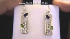 Cairn Scotland Charles Rennie Mackintosh Sterling Silver Earrings CRMA592 - http://videos.silverjewelry.be/earrings/cairn-scotland-charles-rennie-mackintosh-sterling-silver-earrings-crma592/