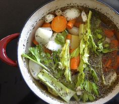 Vegetable Soup Stock Ingredients
