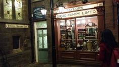 Abbey house museum in Kirkstall Leeds. The Museum is famous for its recreated Victorian streets - the Druggist's Shop is a particular favourite of mine!