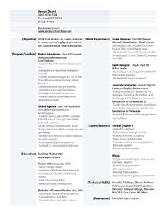 organized, two-column resume with a touch of color