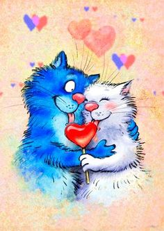 Pretty Cats, Beautiful Cats, Cat Aesthetic, Blue Cats, Cat Drawing, Whimsical Art, Cat Memes, Crazy Cats, Cool Cats