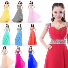 Cool 2017 Long Chiffon Cap sleeve Evening Formal Party Ball Gown Prom Bridesmaid Dres 2017-2018 Check more at http://dressesshop.top/product/2017-long-chiffon-cap-sleeve-evening-formal-party-ball-gown-prom-bridesmaid-dres-2017-2018/