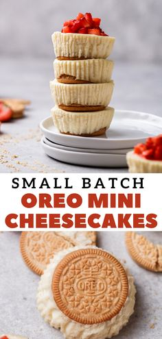 Best Dessert Recipes, Easy Desserts, My Recipes, Delicious Desserts, Individual Cheesecakes, Mini Cheesecakes, Oreo Crust Cheesecake, Cheesecake Cupcakes, My Favorite Food