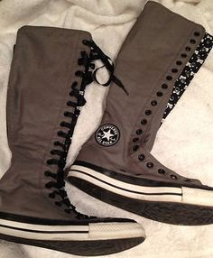 Converse All Star Chuck Taylor Knee High Tennis Shoes Size 9 5 | eBay