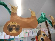 sloth, and other rainforest animals. This is a 1st grade classroom, but could use these ideas when doing Great Kapok Tree around Earth Day in an older class by changing them up a bit.                                                                                                                                                     More