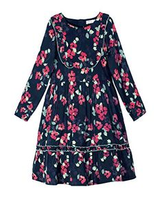 Caca Cina Girls Floral Print Long Sleeve Dress ** Be sure to check out this awesome product.Note:It is affiliate link to Amazon.