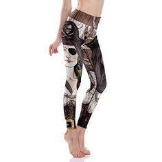 3D print pirate girl winter warm Harajuku punk adventure time workout push up spandex plus size fitness leggings women pants