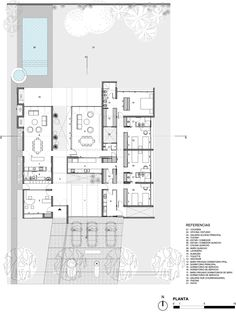Marvelous Home Design Architectural Drawing Ideas. Spectacular Home Design Architectural Drawing Ideas. Architecture Plan, Interior Architecture, Villa Plan, Interesting Buildings, House Layouts, House Floor Plans, Planer, Home Design, Building A House