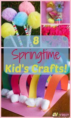 8 Springtime Kid's Crafts!