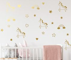 Wall Decor Stickers for Babes and Kids Room Feathers White LittleStars