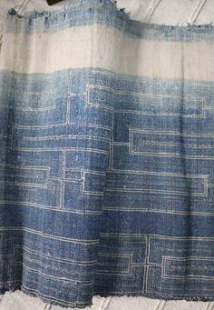 """weftwarp: """" Handwoven indigo dyed textile, Thailand """""""