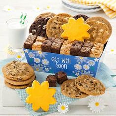 Get Well Gift Baskets - Mrs. Fields Get Well Soon Cookie Crate Mini Brownie Bites, Mini Brownies, Mrs Fields, Get Well Gift Baskets, Gift Crates, Feeling Under The Weather, Get Well Soon Gifts, Cookie Frosting, Freshly Baked