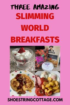 Three amazing Slimming World breakfasts Shoestring Cottage - Three amazing Slimming World breakfasts Shoestring Cottage - Healthy Eating Tips, Healthy Nutrition, Cheap Meals, Cheap Recipes, Ripe Banana Recipe, Slimming World Breakfast, Tumblr Food, Party Food And Drinks