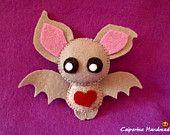 Pipistrello in pannolenci - Halloween - portachiavi Bat - felt - halloween - keychain