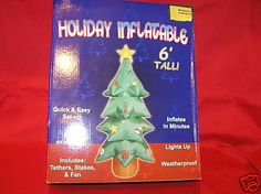AIRBLOWN INFLATABLE 6 FT LIGHTED HOLIDAY CHRISTMAS TREE