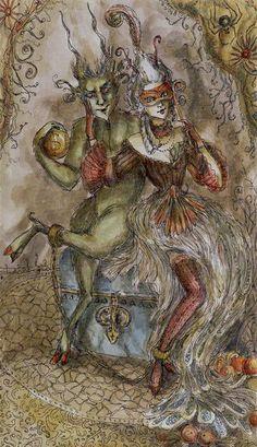 XV - Le diable - Tarot Paulina par Paulina Cassidy  // vivo