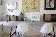 selfmade office desk