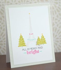 Merry & Bright Card by Nichole Heady for Papertrey Ink (October 2013)